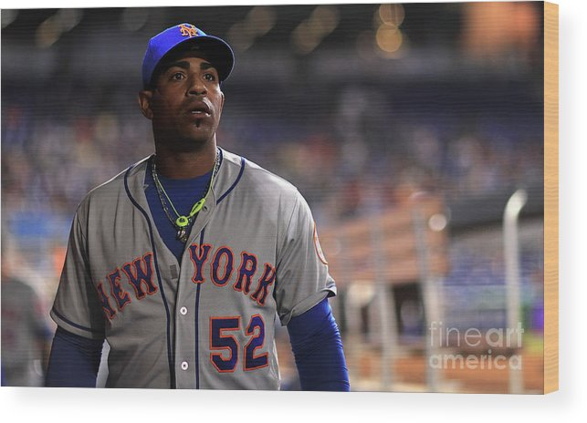 Yoenis Cespedes Wood Print featuring the photograph Yoenis Cespedes by Mike Ehrmann