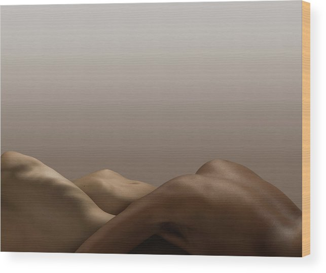 People Wood Print featuring the photograph Abstract Nude Bodies, Different Skin by Jonathan Knowles