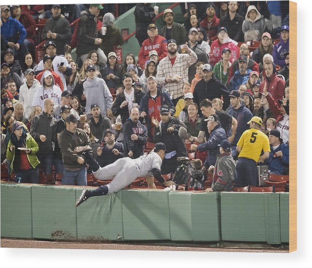 People Wood Print featuring the photograph New York Yankees v Boston Red Sox by Michael Ivins/Boston Red Sox