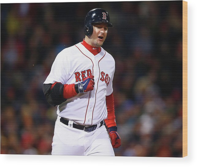 American League Baseball Wood Print featuring the photograph Tampa Bay Rays V Boston Red Sox by Jared Wickerham