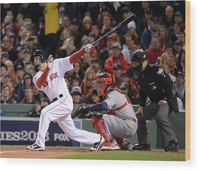 St. Louis Cardinals Wood Print featuring the photograph 2013 World Series Game 2 St. Louis by Ron Vesely