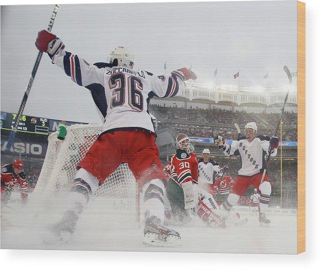 National Hockey League Wood Print featuring the photograph 2014 Coors Light Nhl Stadium Series - by Bruce Bennett