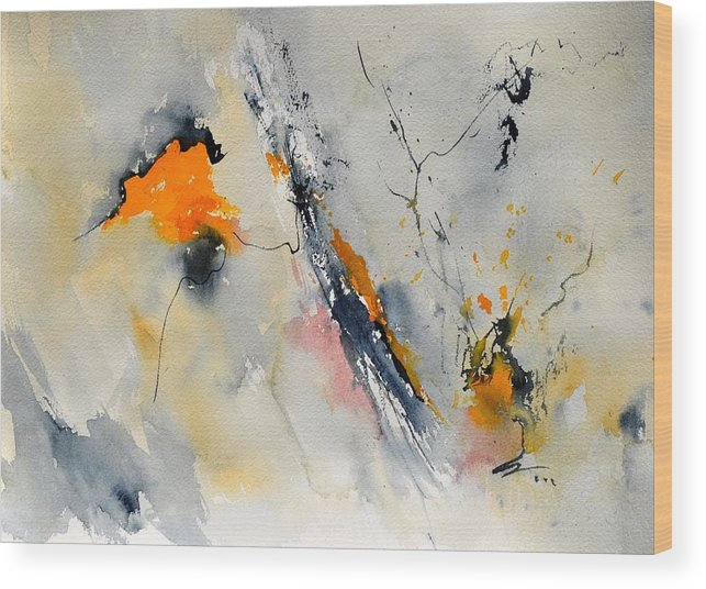 Abstract Wood Print featuring the painting Abstract 416032 by Pol Ledent