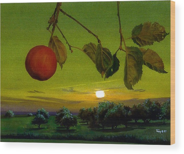 Apples Wood Print featuring the painting Apple Trees by Robert Tracy