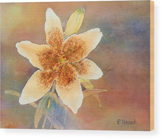 Lily Wood Print featuring the painting Asiatic Lily by Patricia Novack