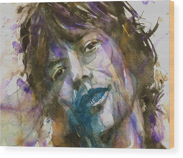 Rolling Stones Wood Print featuring the painting Gimme Shelter by Paul Lovering
