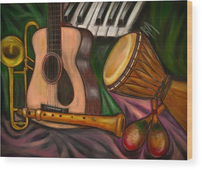 Music Wood Print featuring the photograph Grand POP by Artist RiA