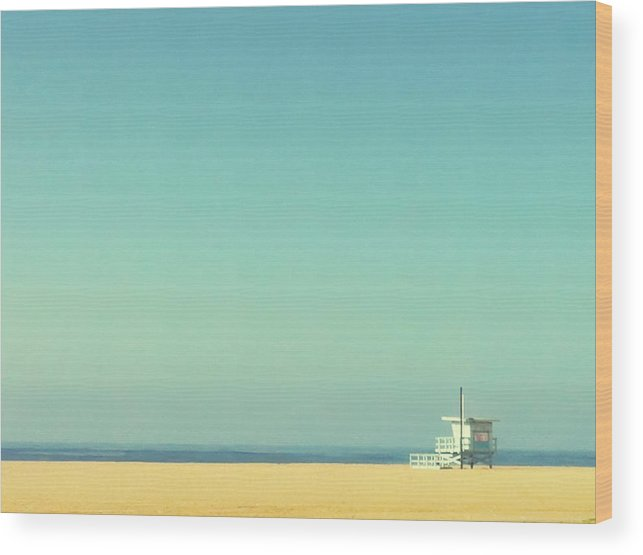Tranquility Wood Print featuring the photograph Life Guard Tower by Denise Taylor
