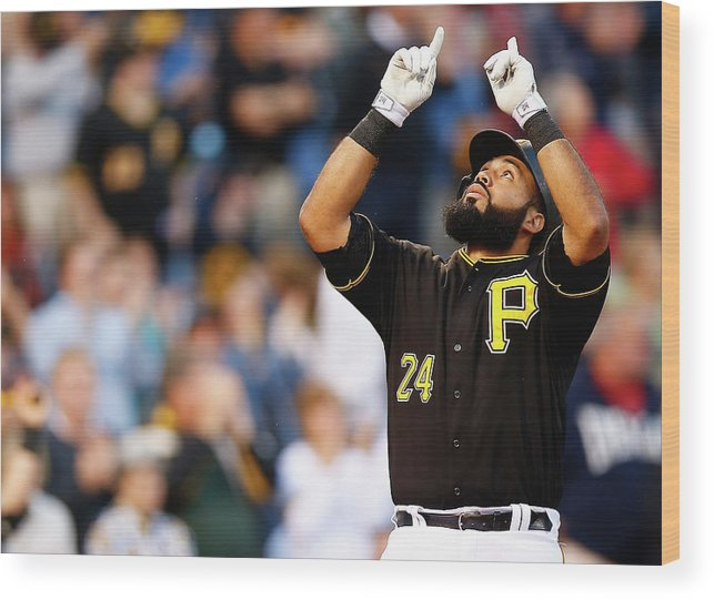 People Wood Print featuring the photograph Minnesota Twins V Pittsburgh Pirates by Jared Wickerham