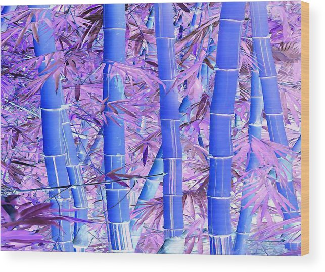 Purple Bamboo Forest Wood Print By Robin Curtiss