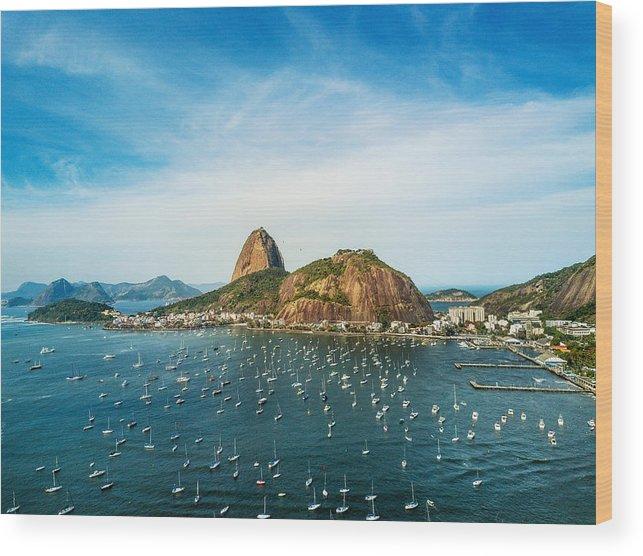 Scenics Wood Print featuring the photograph Sugarloaf Mountain In Rio De Janeiro, Brazil by Nikada
