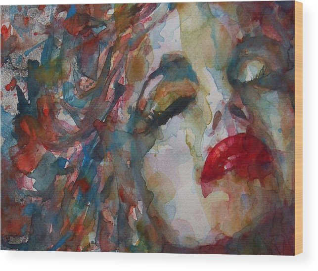 Marilyn Monroe Wood Print featuring the painting The Last Chapter by Paul Lovering