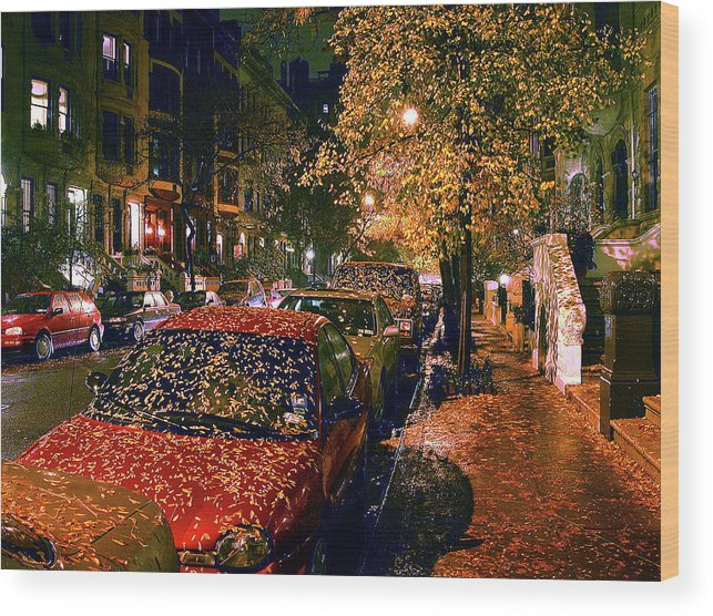 Autumn In Nyc Wood Print featuring the photograph Autumn in New York City by John Banegas