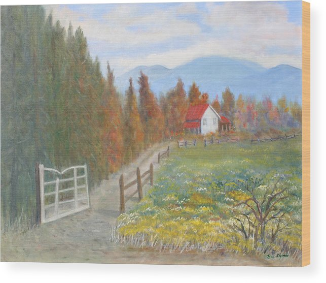 Wood Print featuring the painting Country Road by Ben Kiger
