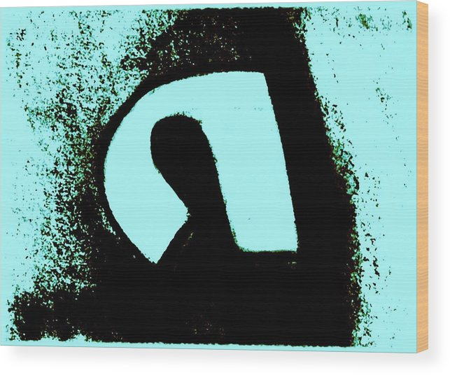 Abstract Wood Print featuring the digital art Figure in mirror by Joseph Ferguson