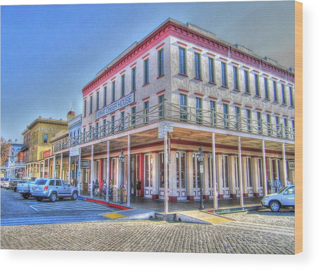 Street Corner Wood Print featuring the photograph Old Towne Sacramento by Barry Jones