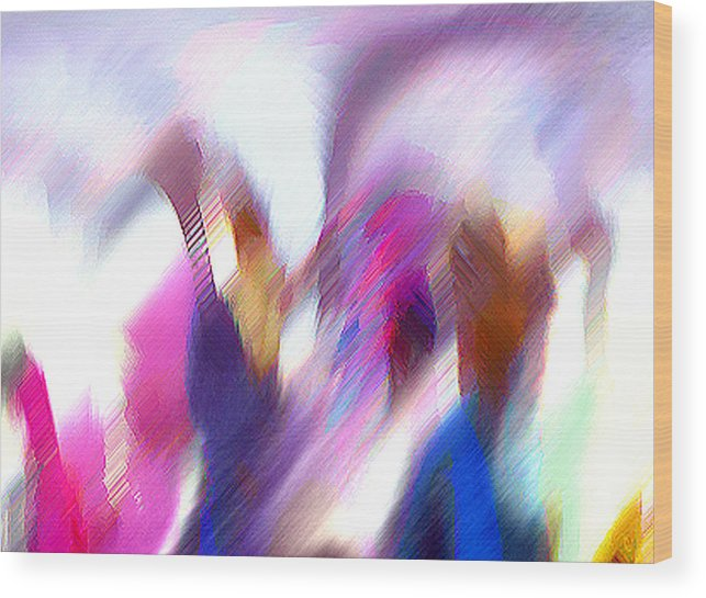 Digital Media Wood Print featuring the painting Color Dance by Anil Nene