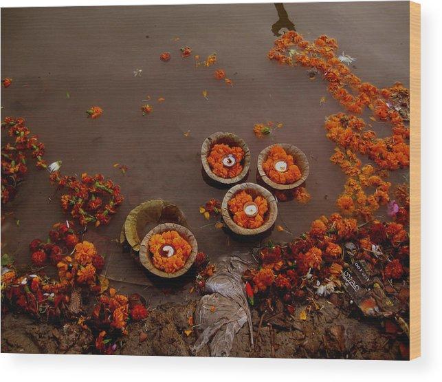 India Wood Print featuring the photograph Morning Prayer by Art Nomad Sandra Hansen