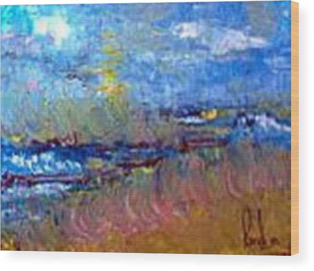 Wood Print featuring the painting The Sea by Carol P Kingsley