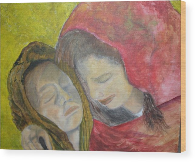 New Artist Wood Print featuring the painting At Last They Sleep by J Bauer