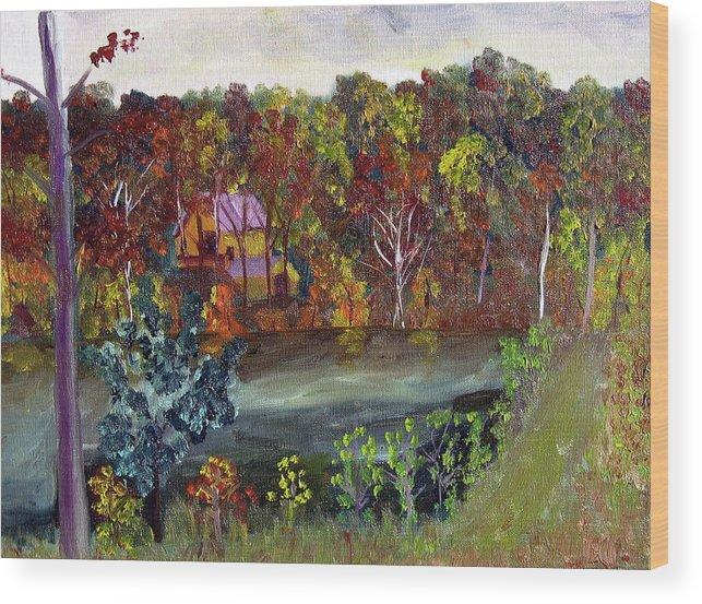 Plein Air Wood Print featuring the painting Bc 15 by Stan Hamilton