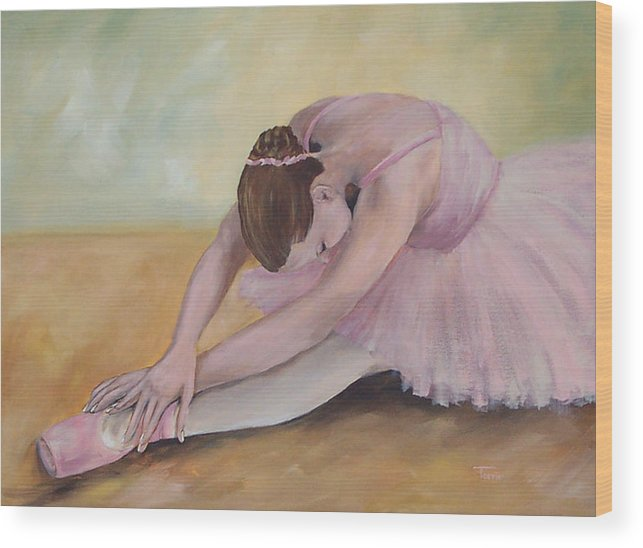 Dancer Wood Print featuring the painting Before The Ballet by Torrie Smiley