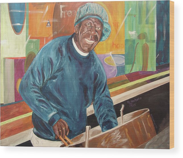 Kevin Callahan Wood Print featuring the painting Bing Bang Broadway Blues by Kevin Callahan