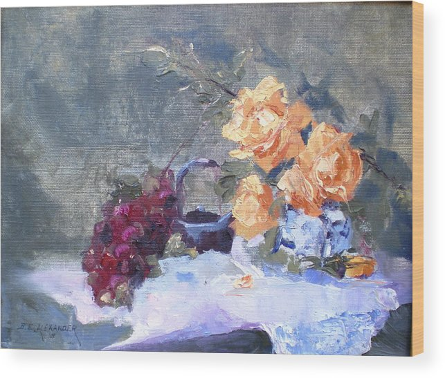 Still Life Wood Print featuring the painting Complimentory by Bryan Alexander
