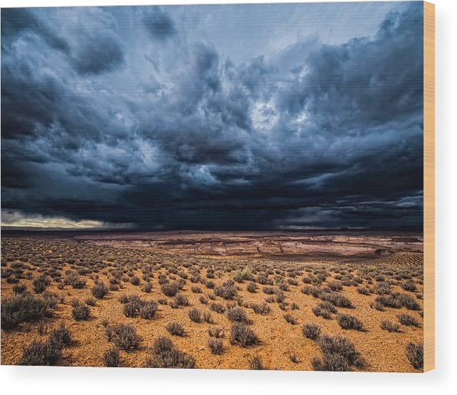 Utah Wood Print featuring the photograph Desert Clouds by Whit Richardson