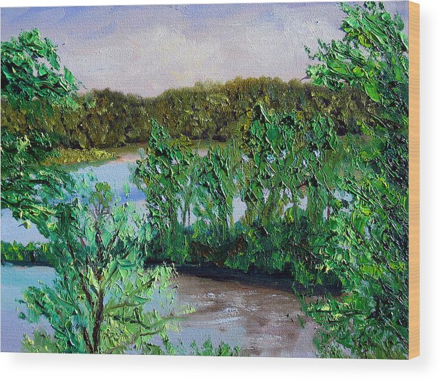 Original Oil On Canvas Wood Print featuring the painting Ecp 5-26 by Stan Hamilton