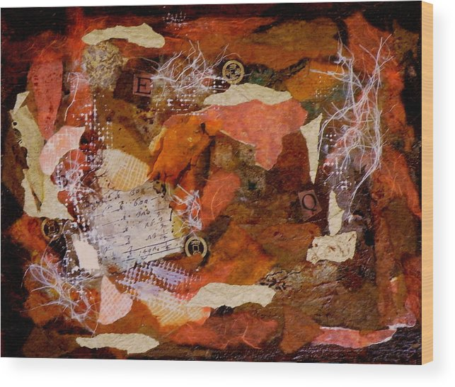 Mixed Media Wood Print featuring the painting EQ Waiting for the Shoe by Tara Milliken