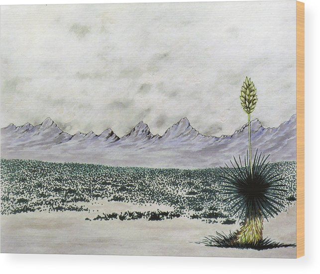 Desertscape Wood Print featuring the painting Land of Enchantment by Marco Morales