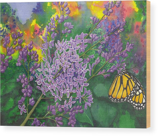 Lilac Wood Print featuring the painting Lilac by Catherine G McElroy
