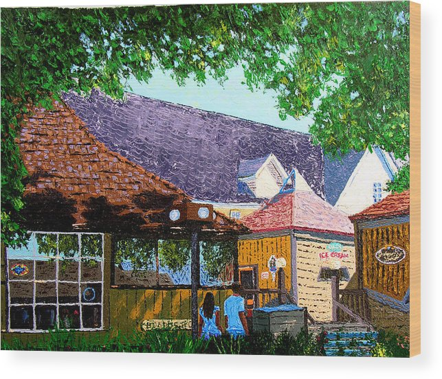 Original Oil On Canvas Wood Print featuring the painting Nashville 3-06 by Stan Hamilton