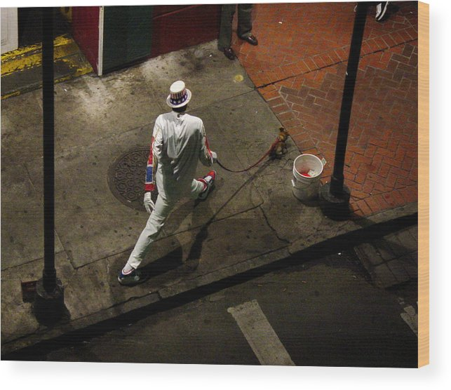 New Orleans Wood Print featuring the photograph New Orleans Shuffle by Linda Kish