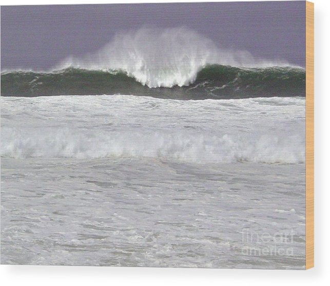 Seascape Wood Print featuring the photograph North Beach Winter by Paul Miller
