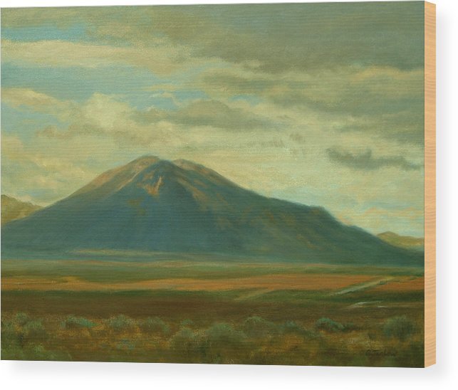 Southwest Wood Print featuring the painting Outside Of Taos by Phyllis Tarlow