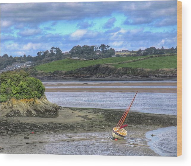 Padstow Wood Print featuring the digital art Padstow Tide by Scott Waters