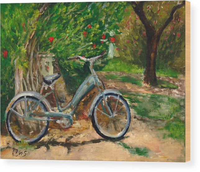Plein Air Wood Print featuring the painting Plien air afternoon by Chris Neil Smith