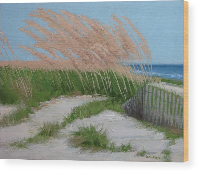 Ocean Dunes Wood Print featuring the painting Sand Dunes No 2 by Robert Rohrich