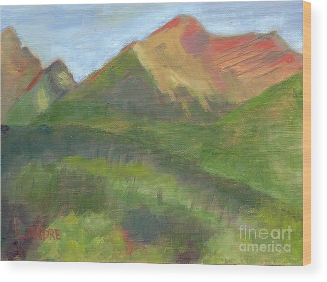 Colorado Wood Print featuring the painting Sangres II by Lilibeth Andre