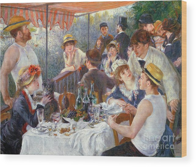 The Wood Print featuring the painting The Luncheon of the Boating Party by Pierre Auguste Renoir