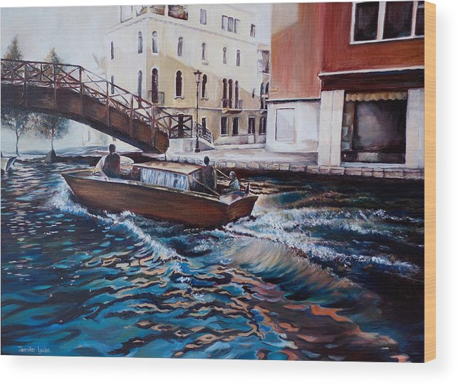 Venice Wood Print featuring the painting Venice by Jennifer Lycke