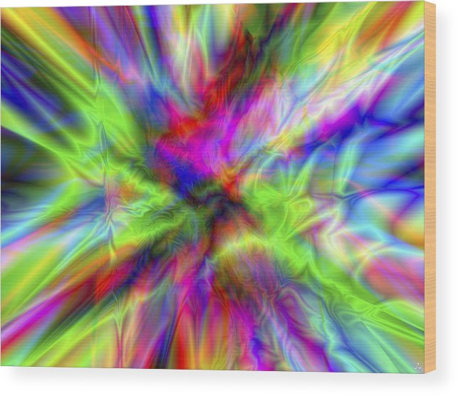 Colors Wood Print featuring the digital art Vision 1 by Jacques Raffin
