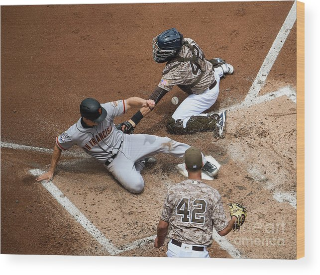 Second Inning Wood Print featuring the photograph San Franciso Giants V San Diego Padres by Denis Poroy