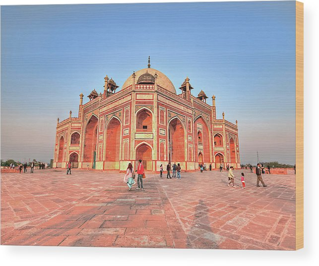 Arch Wood Print featuring the photograph Humayuns Tomb, New Delhi by Mukul Banerjee Photography