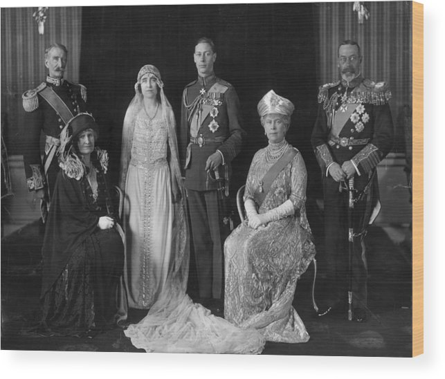 People Wood Print featuring the photograph Royal Wedding by Hulton Archive