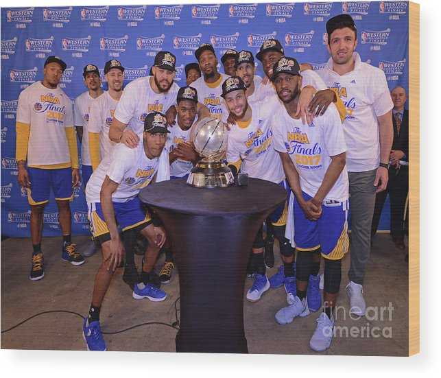 Playoffs Wood Print featuring the photograph Golden State Warriors V San Antonio by Noah Graham