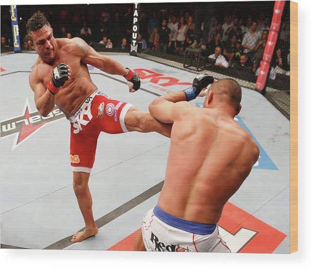 Event Wood Print featuring the photograph Ufc Fight Night Belfort V Henderson by Josh Hedges/zuffa Llc