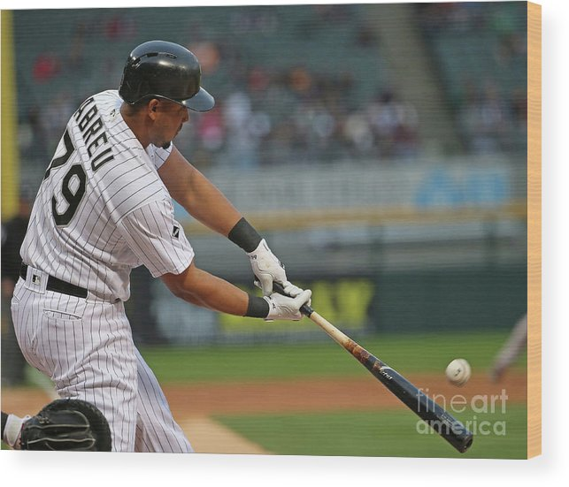 Three Quarter Length Wood Print featuring the photograph Boston Red Sox V Chicago White Sox by Jonathan Daniel
